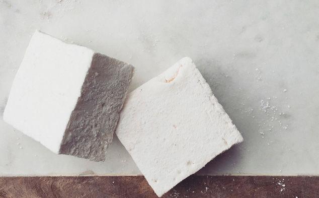 Handmade vanilla bean marshmallows