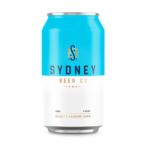 Sydney Beer Co Lager Cans 330mL (case of 24)