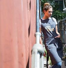 urban style, servicebekleidung, schürze, t-shirt, corporate fashion, corporate wear, arbeitsbekleidung, berufsbekleidung, imagewear