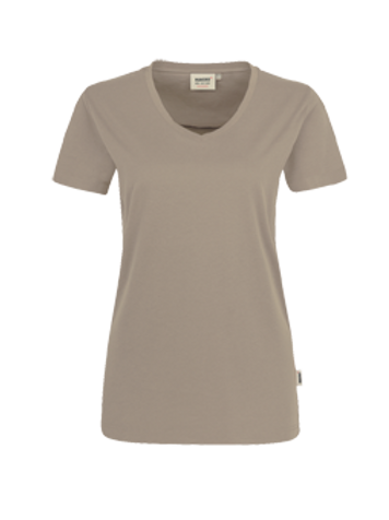 T-Shirt V-Hals khaki for women