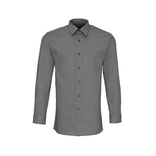 Hemd ohne Brusttasche Dark Grey