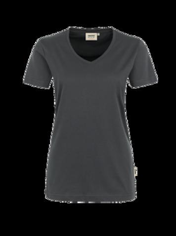 T-Shirt V-Hals anthrazit for women