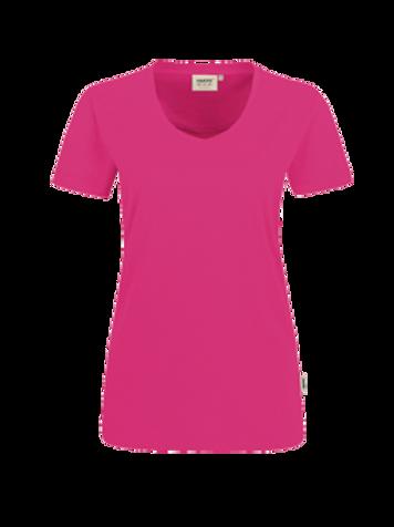 T-Shirt V-Hals magenta for women