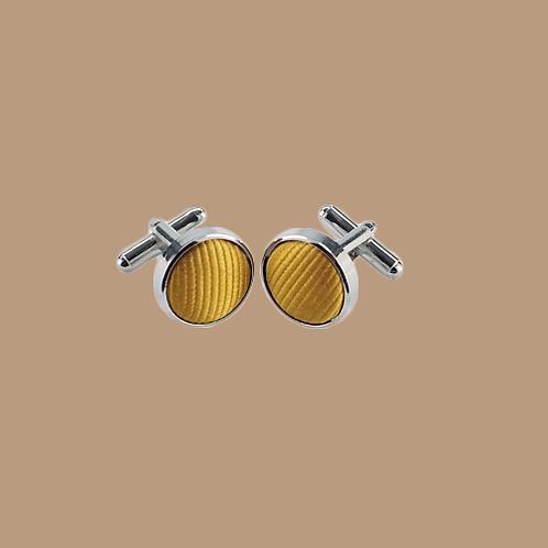 Manschettenknöpfe mit Seide gold