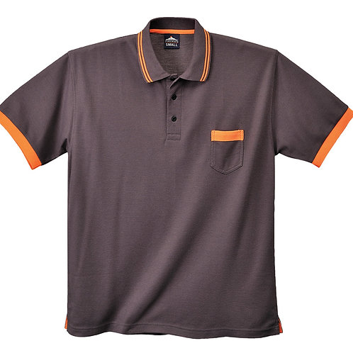 Kontrast Polo-Shirt grey