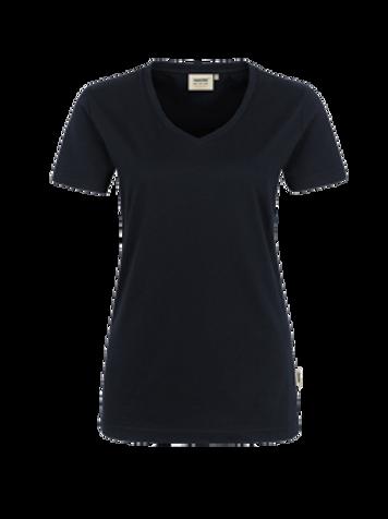 T-Shirt V-Hals schwarz for women