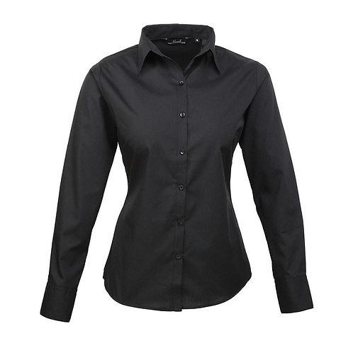 Bluse POPLIN black
