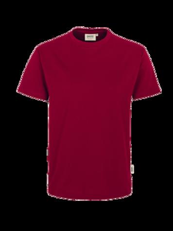 T-Shirt Rund-Hals weinrot for men