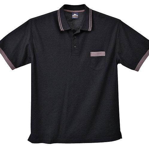 Kontrast Polo-Shirt black