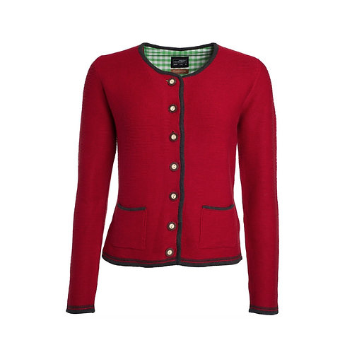 Tracht Strickpullover Dame rot