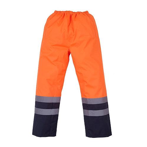 Wasserfeste Hose orange/navy