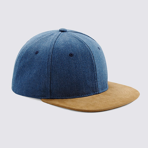 Snapback denim blue
