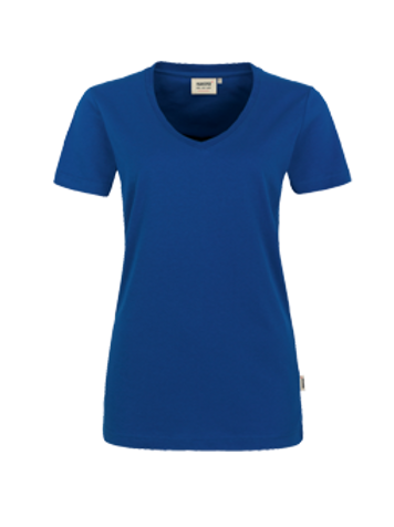 T-Shirt V-Hals ultramarinblau for women