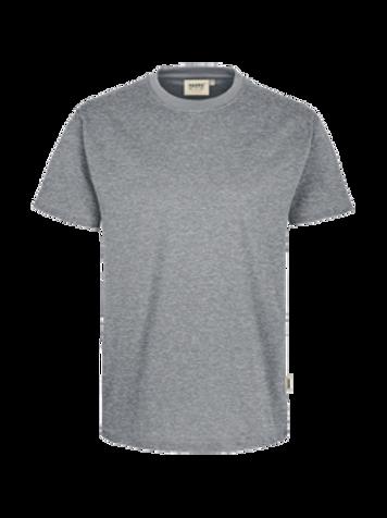 T-Shirt Rund-Hals grau meliert for men