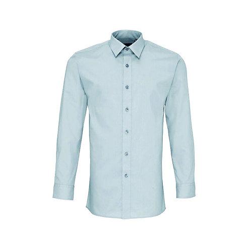 Hemd ohne Brusttasche Light Blue
