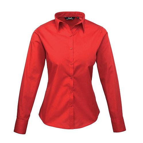 Bluse POPLIN red
