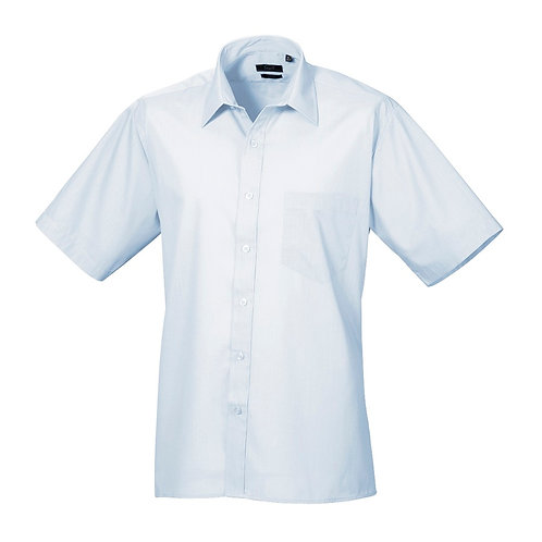 Kurzarm Hemd POPLIN light blue