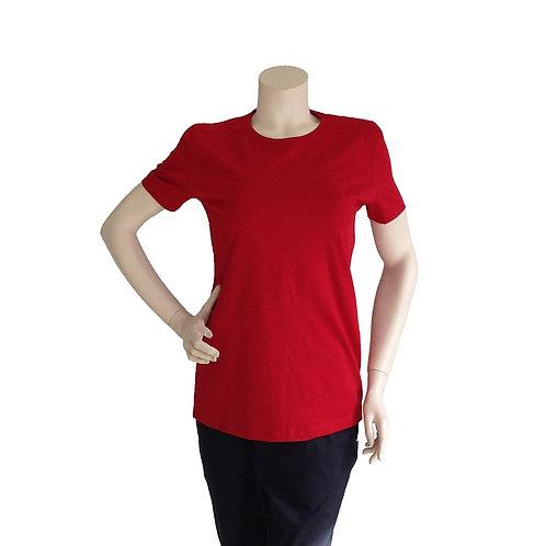 2er Pack T-Shirt Damen rot