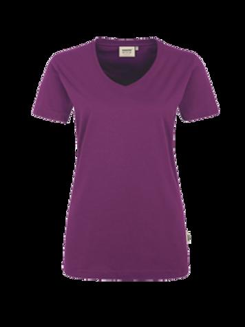 T-Shirt V-Hals aubergine for women