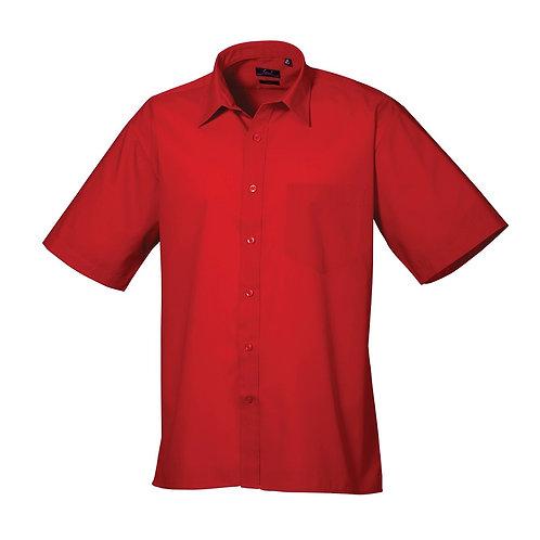 Kurzarm Hemd POPLIN red