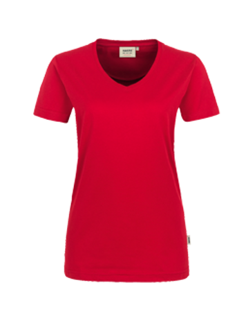 T-Shirt V-Hals rot for women