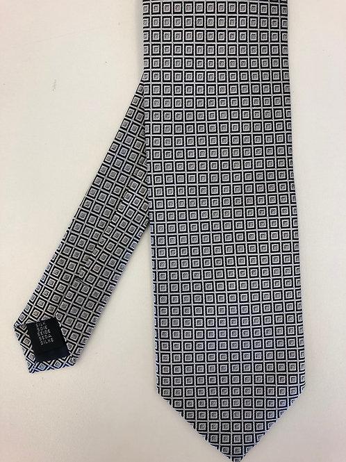 Krawatte silber-schwarz