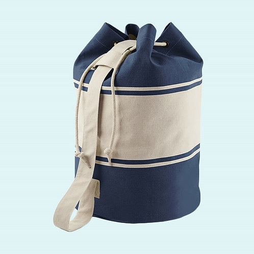 Canvas duffle navy/white