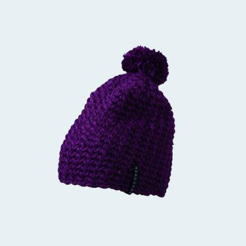 Häkelmütze mit Pompon purple AC