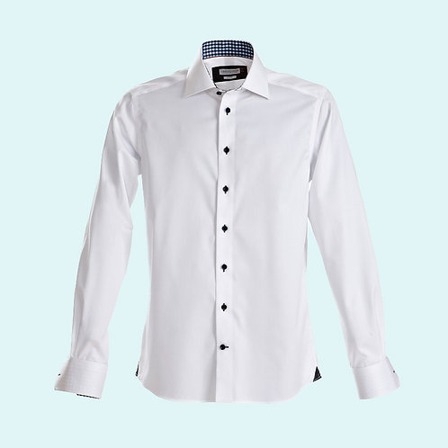 Men's regular fit 20 shirt Red Bow collection white/navy