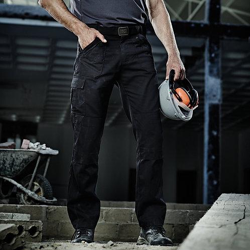 Cullman multi-pocket work trousers black