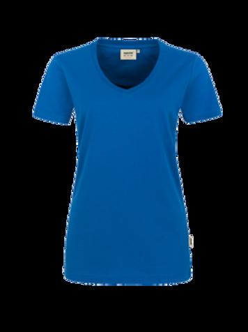 T-Shirt V-Hals royalblau for women