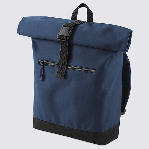 Roll-top backpack navy