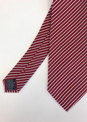 Krawatte rot-weiss gestreift
