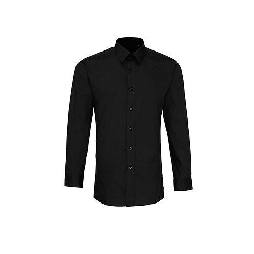 Hemd ohne Brusttasche Black
