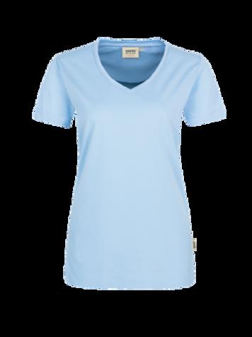 T-Shirt V-Hals eisblau for women