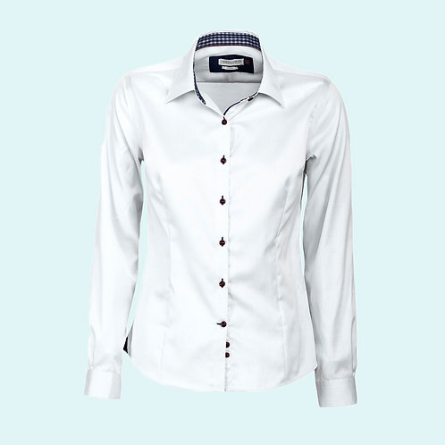Women's 20 shirt Red Bow collection white/navy