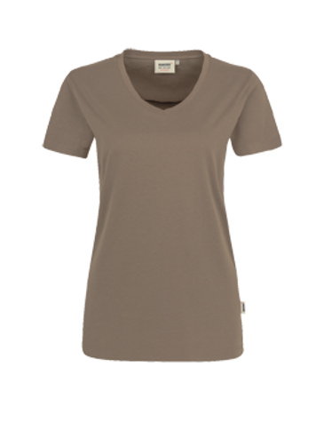 T-Shirt V-Hals nougat for women