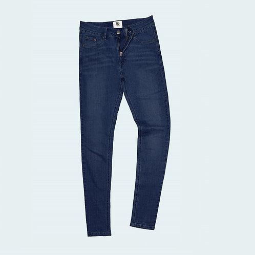 Women's Lara skinny jeans dark blue wash AC