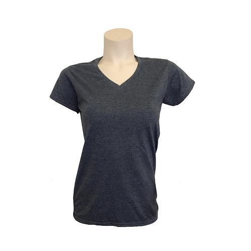 Gildan T-Shirt grau Damen Muster