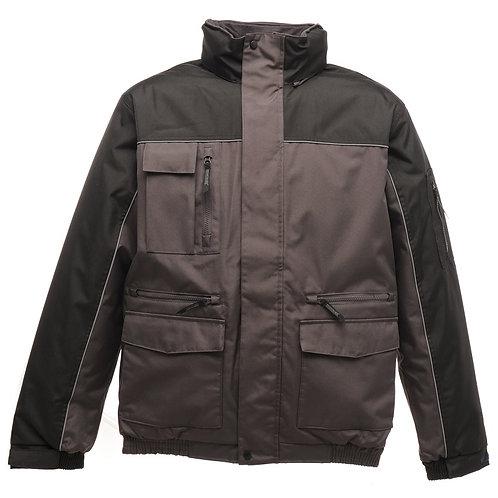 Condenser heavy duty bomber jacket iron/black