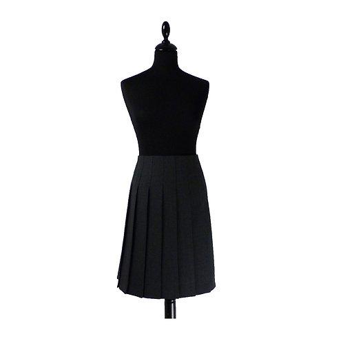 Senior Stitch Down Pleat Skirt Harrow Grey