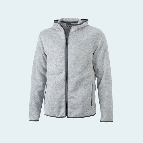 Herren Strickfleece Jacke light-melange/carbon AC