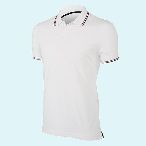 Short sleeve polo shirt for men white