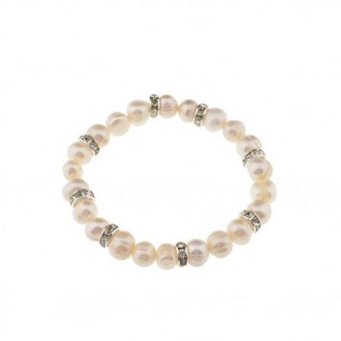 Armschmuck mit echten Perlen und Strasselementen