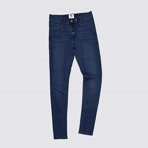 Jeans, skinny fit, Dark blue washed, Nr. Lara
