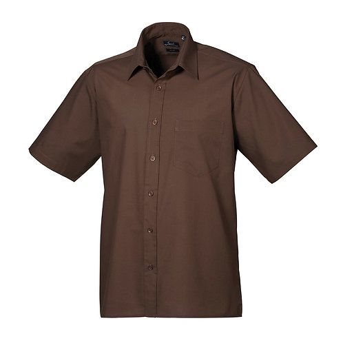 Kurzarm Hemd POPLIN brown