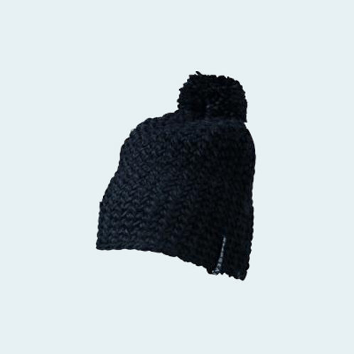 Häkelmütze mit Pompon black AC