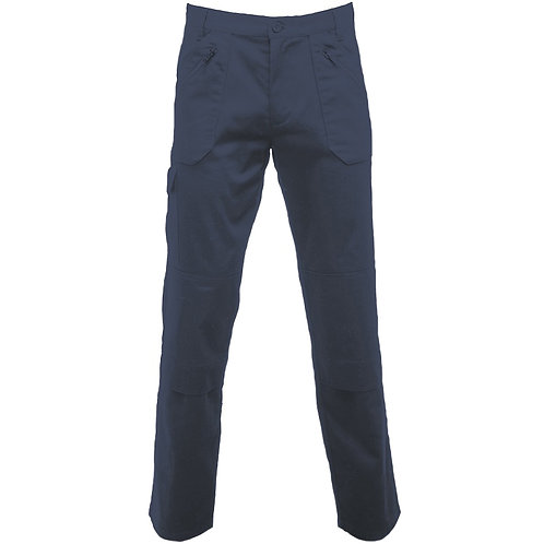 Cullman multi-pocket work trousers navy