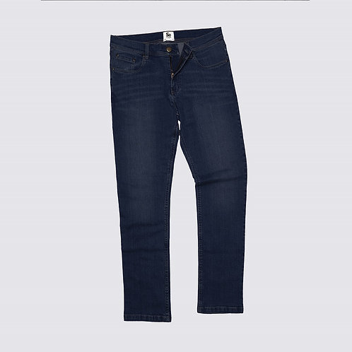 Leo straight jeans for man dark blue wash