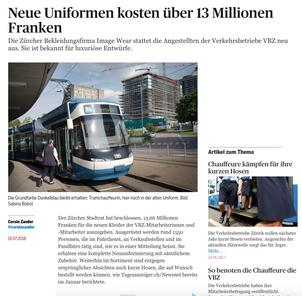 Neue Uniformen für die Verkehrsbetriebe Zürich